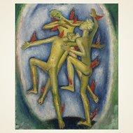 Glyn Philpot RA (1884-1937) 'Angels Dancing in a Drop of Water'