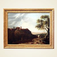 Circle of Richard Wilson, R.A. – Tivoli, the Temple of the Sibyl and the Campagna