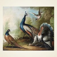 Marmaduke Cradock – Still Life of Birds in a Landscape