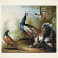 Marmaduke Cradock – Still Life of Birds in a Landscape