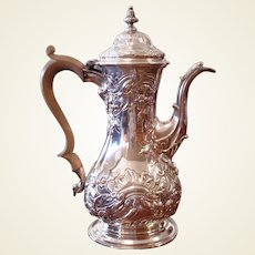 Late George II Period Sterling Silver Coffee Pot