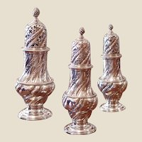 A Set of Three George III Period Silver Casters