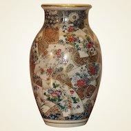 A Kyoto Satsuma Ovoid Vase