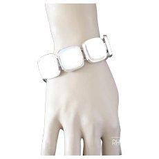 1960s Bent Knudsen Danish Modernist Silver Bracelet