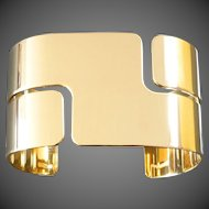 Dinh Van Modern Retro 'Seventies' Gold Cuff Bangle