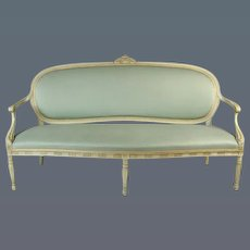 George III Decorated Settee after the Design by Ince and Mayhew (c. 1780 England)