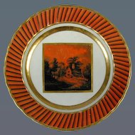 Derby Plate with Named London view (c. 1790 England)