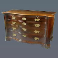 Chippendale Period Mahogany Serpentine Commode (c. 1770 England)