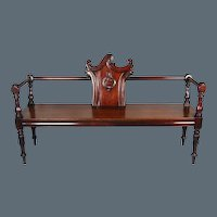 Late Regency Irish Mahogany Hall Bench. Probably by Mack, Williams & Gibton or Strahan of Dublin. (c. 1825 Ireland)