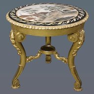William IV Period Giltwood Centre Table, with Original Inset Painted Slate Top. (c. 1835 England)