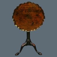 Chippendale Period Mahogany Piecrust Wine Table Circa 1760. (c. 1760 England)