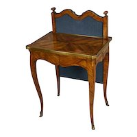 Late 18th Century Tulipwood and Brass Mounted Italian Ladies Writing Table (c. 1780 Italy)