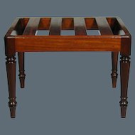 Regency Mahogany Luggage Rack (c. 1820 England)