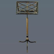 Regency Decorated Duet Stand, Almost Certainly by ERARD. (c. 1810 England)