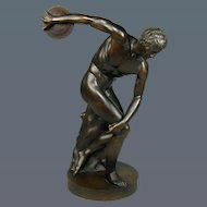 Large 19th Century bronze of DISCOBOLUS
