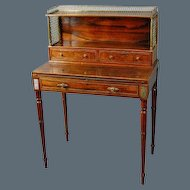 Regency Goncalo Alves and Brass Mounted Ladies Bonheur du Jour, in the manner of John Maclean. Circa 1815