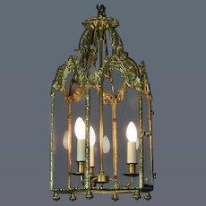 George III Gilt Metal Hall Lantern (c. 1810 England)