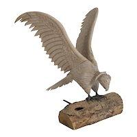 Carved Wood Bird Sculpture