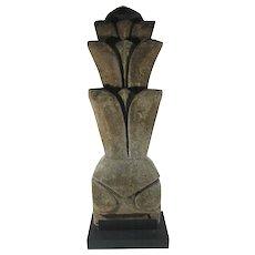 Temple Boundary Marker Sandstone Sculpture