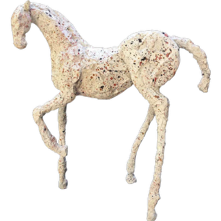MIxed Media Horse Sculpture