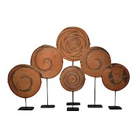 Collection Ethnic Woven Basket Lids