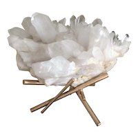 Quartz Crystal Artisan Bronze Sculpture