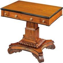 English William IV Period Mahogany Games Table