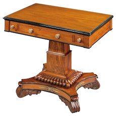English William IV Period Mahogany Games Table