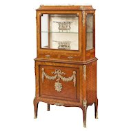 French Parquetry and Ormolu Mounted Vitrine