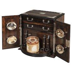 19th Century English Smokers Compendium Cabinet