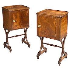 English Regency Period Mahogany Cupboards