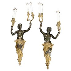 Pair of French Wall Lights in the Louis XV Style