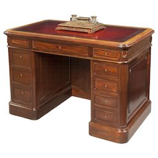 French 19th Century Mahogany Library Desk
