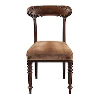 Rare Set of 12 English Mahogany Dining Chairs
