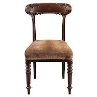 Rare Set of 12 English Mahogany Dining Chairs