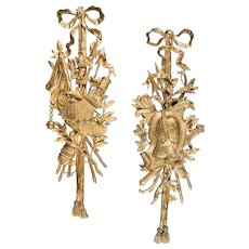 Pair of Ormolu Wall Trophies in the Louis XVI Style