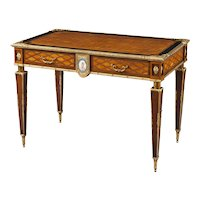 English Writing Table with Inlay and Ormolu Mounts