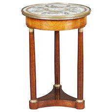 Regency Period Italian Occasional Table with Rome Architecture Scenes