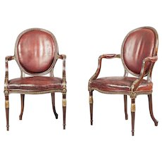 Pair of Armchairs in the Neoclassical Manner