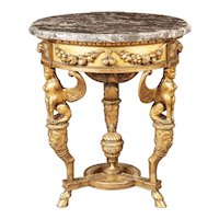 19th Century Italian Giltwood Occasional Table
