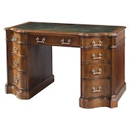 An Oak Pedestal Desk After a Design by Thomas Chippendale
