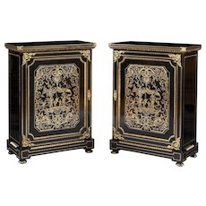 Pair of Side Cabinets in the Manner of Andre Charles Boulle