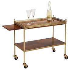 Modern Two Tier Bar Cart
