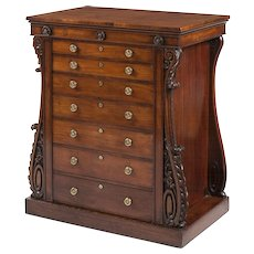 A Collector's Cabinet in the Grecian Taste of the Late Georgian Period