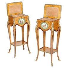 Pair of English Occasional Tables in the Louis XV Transitional Taste