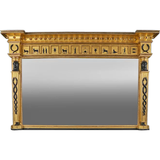 A 19th Century Overmantle Mirror