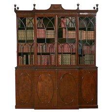 A Georgian Breakfront Bookcase