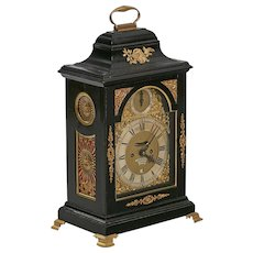 An Ebonised Bracket Clock by James Tregent