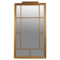 A Large Regency Gilt Mirror
