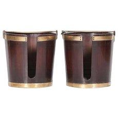 A Pair of Georgian Plate Buckets